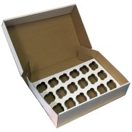 Corrugated Box for 18 Cupcakes | Cupcake Boxes