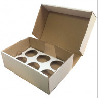 6 Plain Corrugated Cupcake Box | Boxes for Cupcakes