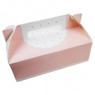 French Cupcake Boxes | Pink and White Boxes for Cupcakes